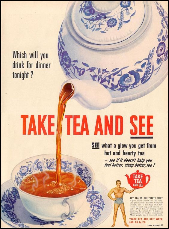 vintage tea advertising 1940s 1950s