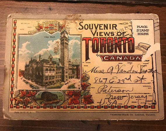 1930s vintage postcard Toronto, Canada
