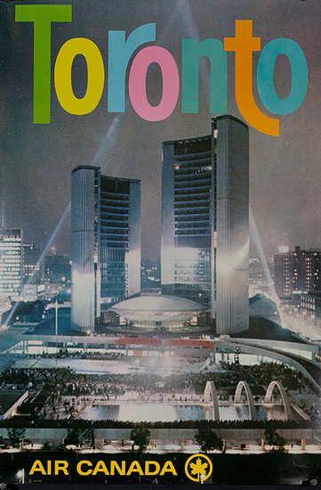 1960s Original Air Canada Toronto Travel Poster