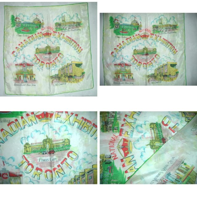 Canadian National Exhibition 1950s vintage scarf