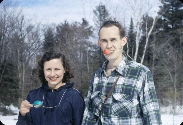 Easter Egg Race Winners 1950s Quebec vintage image