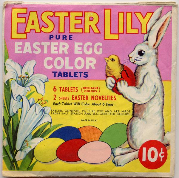 Vintage Easter Egg Colouring Kit 1940