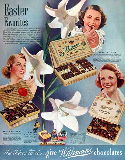 late 1930s early 1940s chocolate advertisement vintage