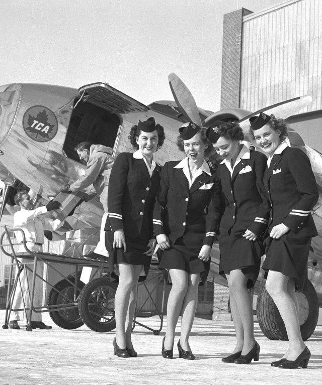 Air Canada (TCA) Flight Attendants 1946 vintage photo
