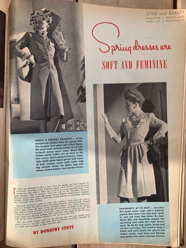 Four Star Fashions Vintage Dusky Rose Crepe  Suit ca 1940s