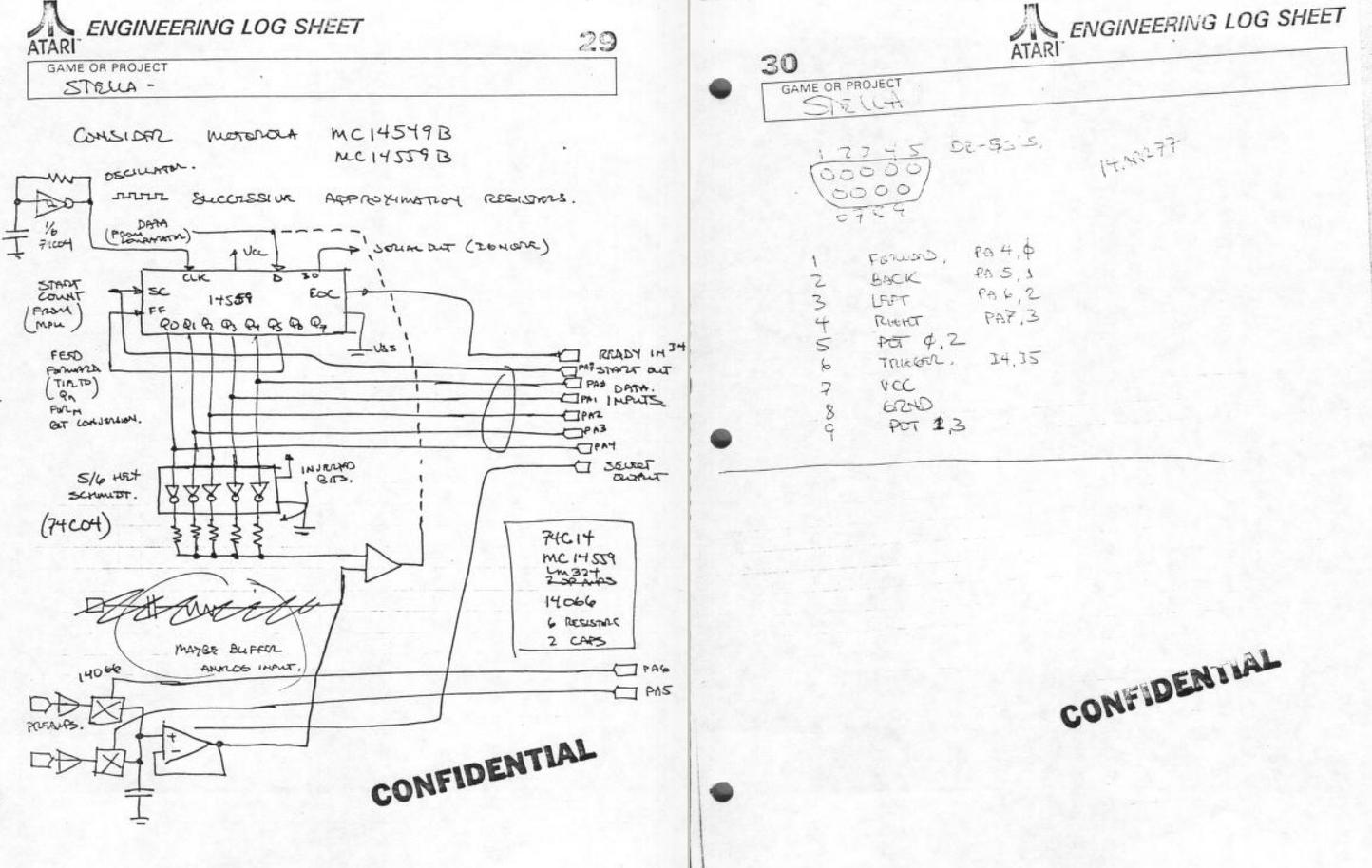 atari 2600 schematic