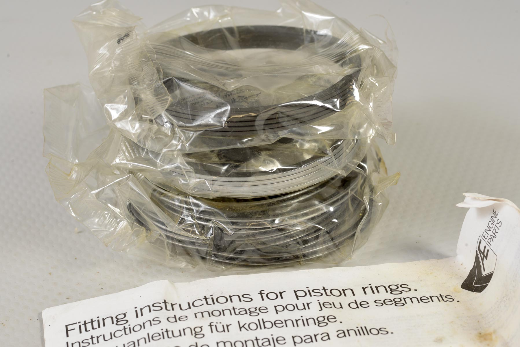 AE Hepolite R39520/V1 - Piston Ring 0 030 in  over, Bore Size 3 625 in  /  92 075 mm, Set of 6, NOS