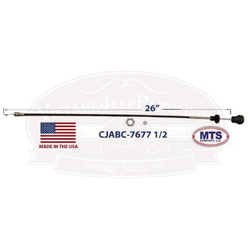Air Box Control Cable w/ Twist Lock, Includes Nut, Washer