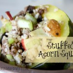 Stuffed  Acorn Squash Recipe (and our garden update)