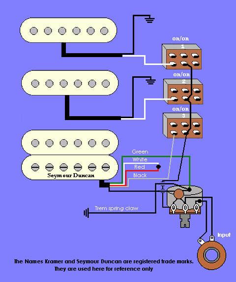 Tap Wiring Diagram Kramer Guitar Wiring Diagrams Seymour Duncan Wiring