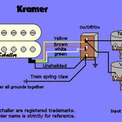 Electric Guitar Pickup Wiring Diagram 1998 Chevrolet S10 Stereo Radio Diagrams Kramer Image All Data Information And Reference Demag