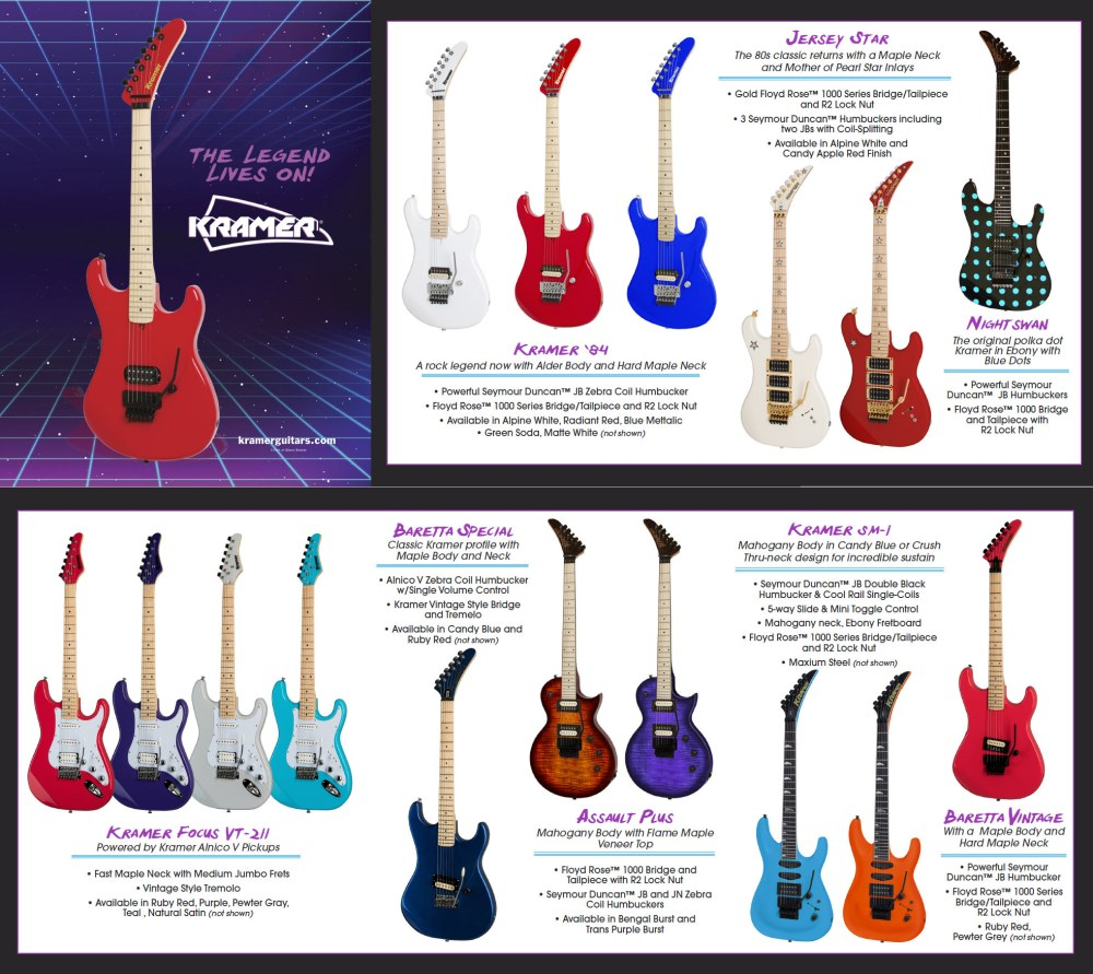 medium resolution of  especially when the instruments are throw backs to the vintage years click on the image below to see the full brochure for kramer at namm this year