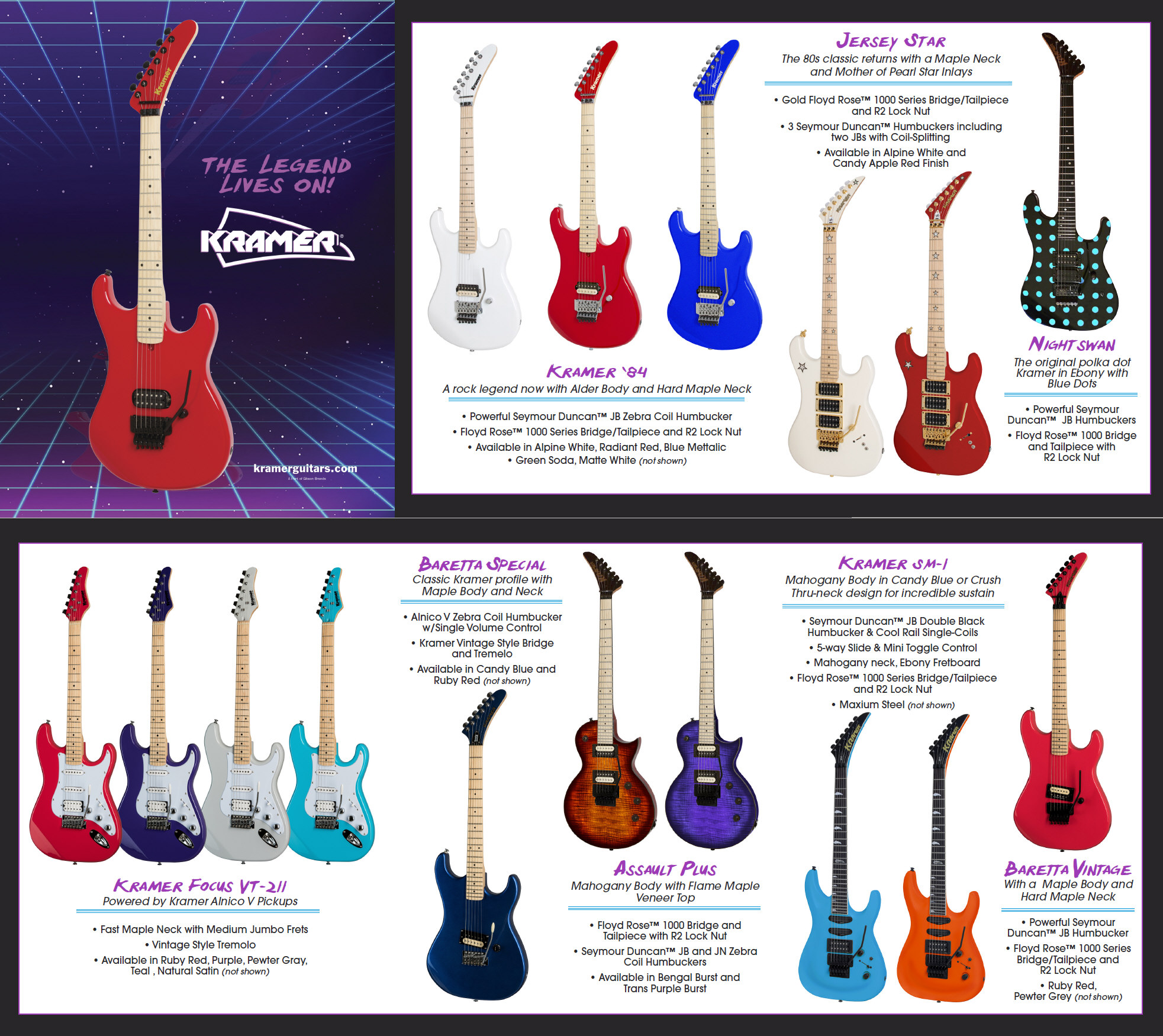 hight resolution of  especially when the instruments are throw backs to the vintage years click on the image below to see the full brochure for kramer at namm this year