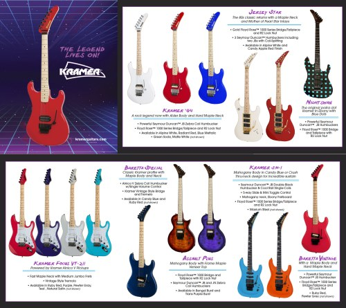 small resolution of  especially when the instruments are throw backs to the vintage years click on the image below to see the full brochure for kramer at namm this year