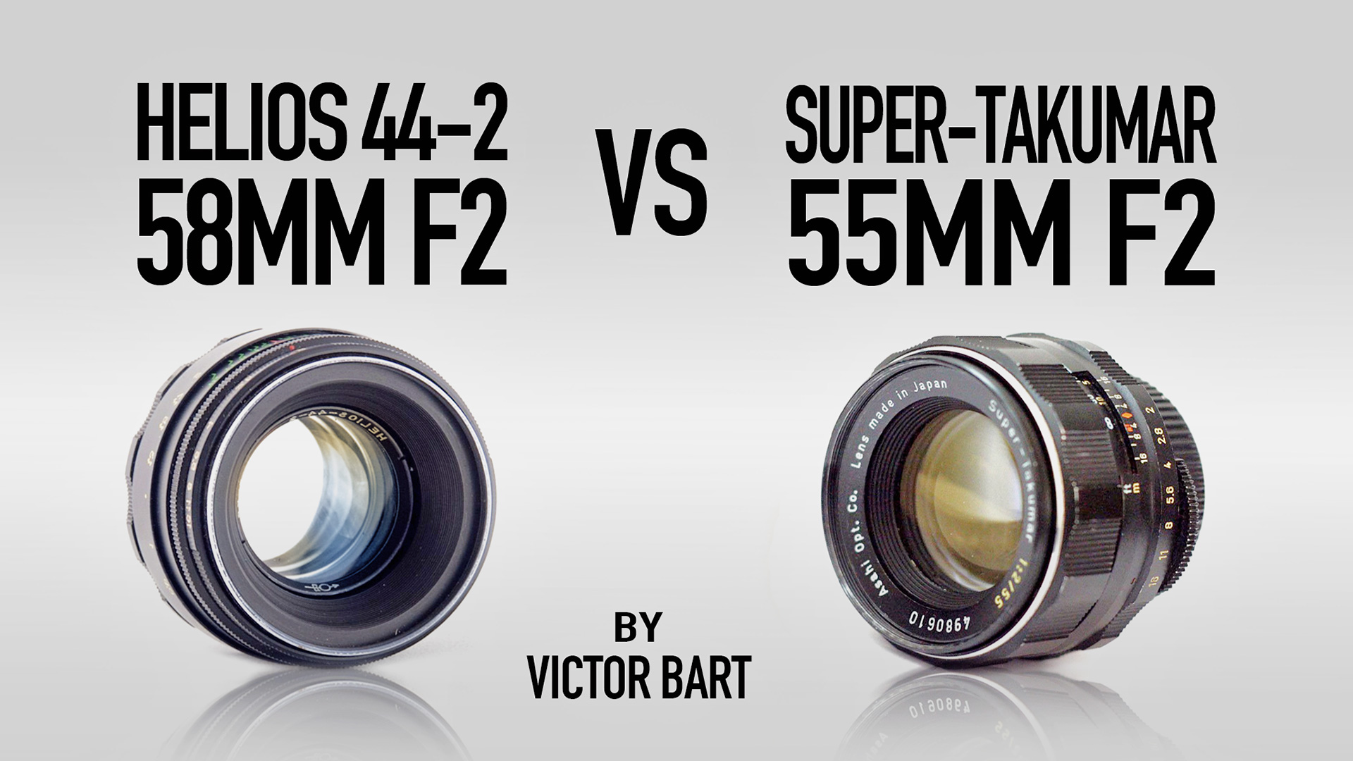 Super-Takumar 55mm F2 vs Helios 44-2 58mm F2