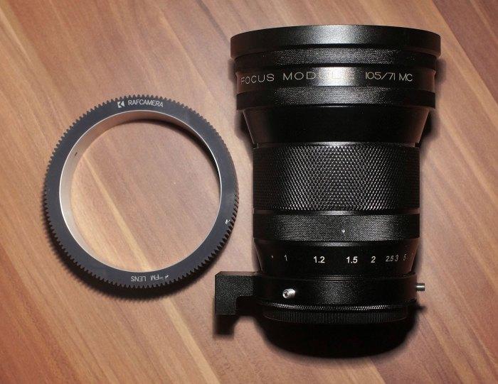 Costom made RAFcamera Follow Focus gear for FM lens