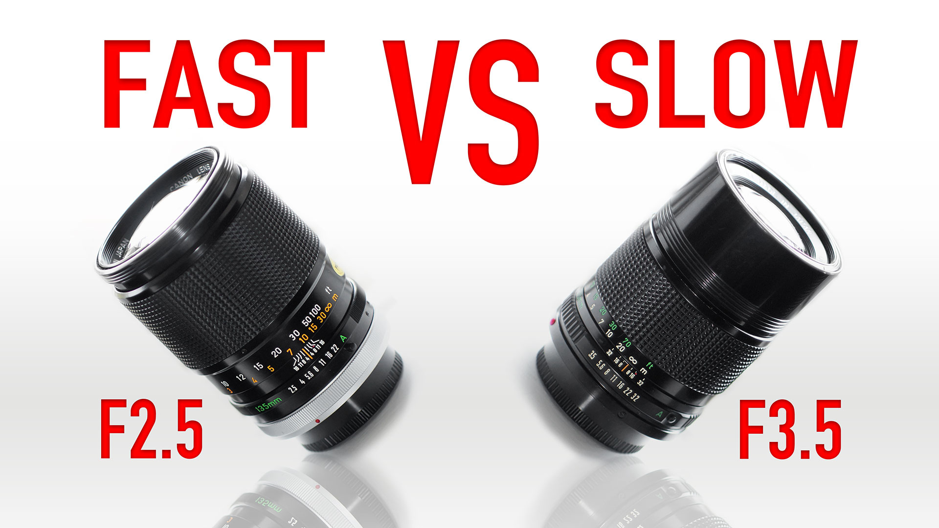 Fast Lenses VS Slower Equivalents