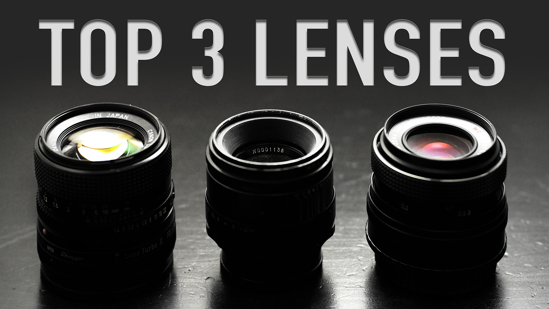 "MY TOP 3 GO-TO ""Vintage Lenses For Video"""