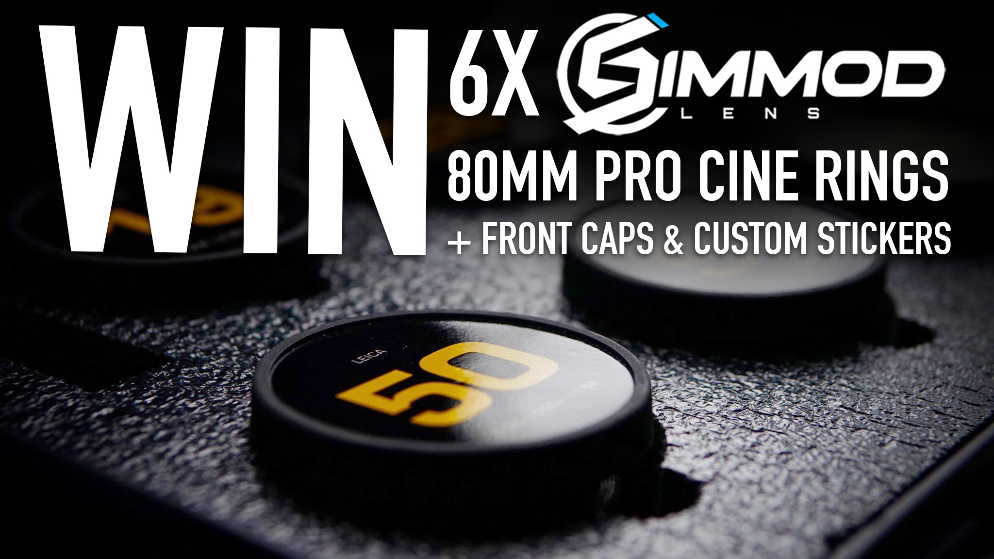 WIN 6x SIMMODLENS 80mm Pro Cine Rings + Caps + Custom Stickers