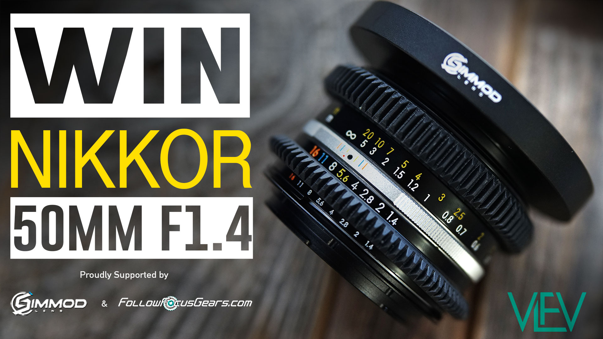 WIN Fully Modded NIKKOR 50mm F1.4 Lens!