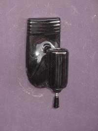 vintage bathroom sconces | black porcelain sconces
