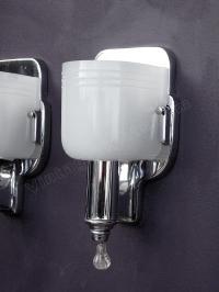 vintage chrome bathroom sconces |antique chrome bath fixtures