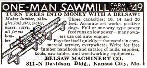 Belsaw M14 Sawmill