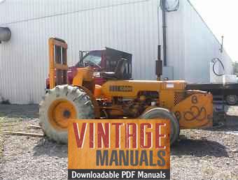 Case 430 Forklift Owner Operator's Manual