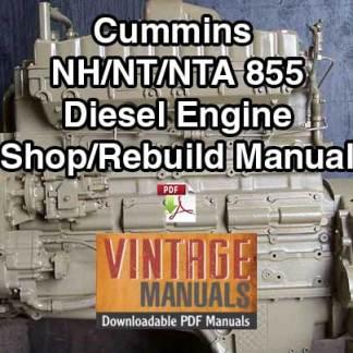 Cummins ntc 400 Shop manual