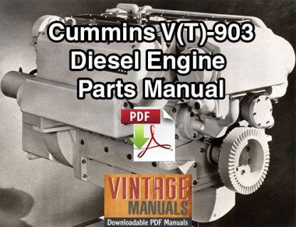 Cummins V903, VT903 Series Diesel Engine Parts Manua