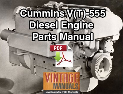 Cummins V555, VT555 Diesel Engine
