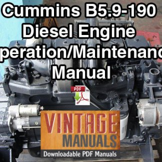 Cummins B5.9 190hp Diesel Engine