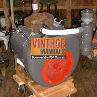 Wisconsin VH4, VH4D Gas Engine Shop Service Manual