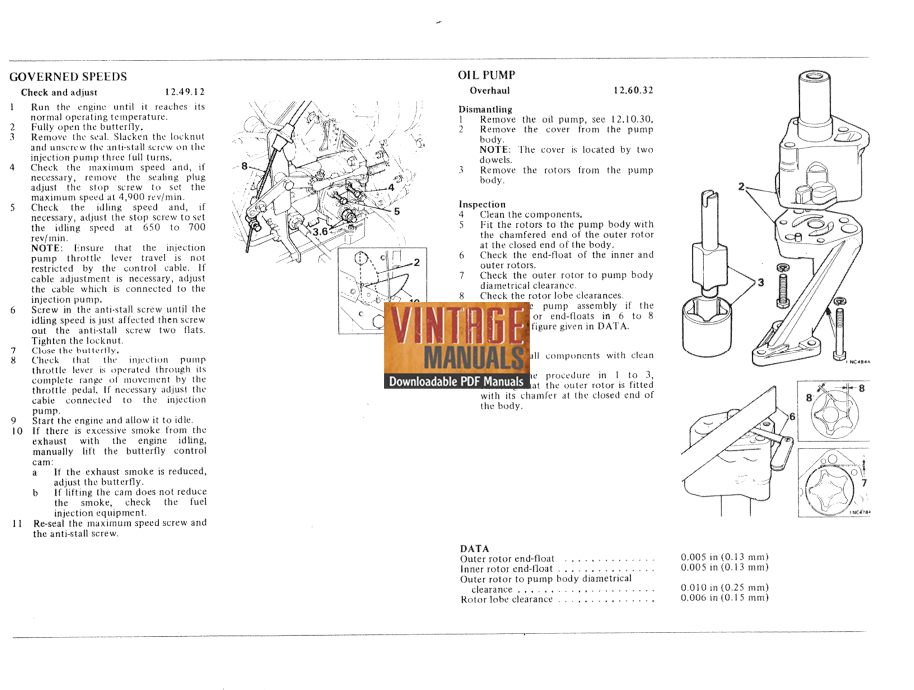 Leyland 1.8L Diesel Engine Shop Service Manual