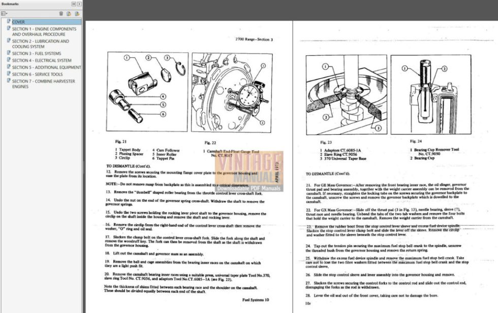 Ford 2700 Series Diesel Engine Shop Service Manual