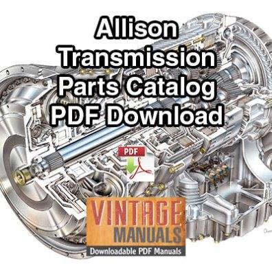 allison transmission repair manual