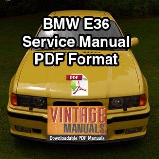 1992-1998 BMW E36 318, 323, 328, M3 Service Manual