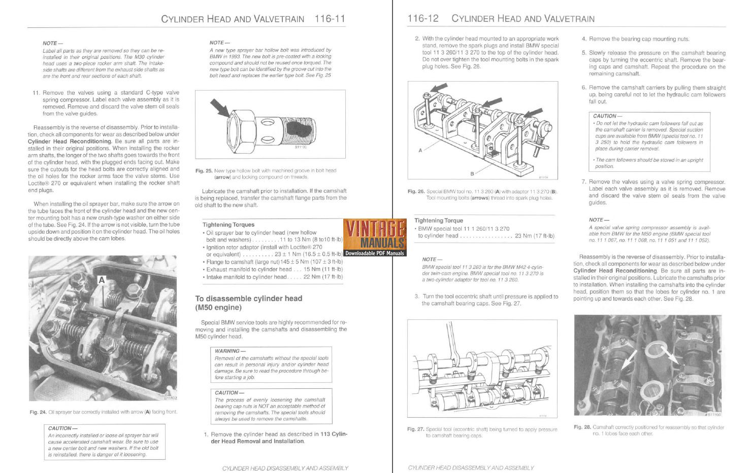 1989-1995 BMW 525i, 530i, 535i, 540i (e34) Service Manual