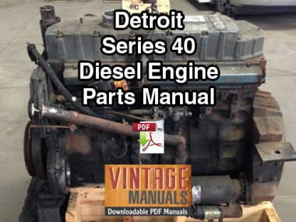 Detroit Series 40 Diesel Engine Parts Manual PDF