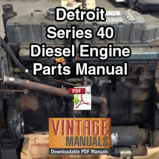 Detroit Series 40 Diesel Engine Parts Manual PDF