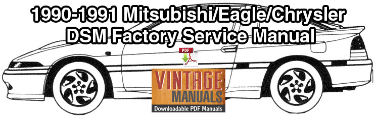 1990 1991 Mitsubishi Eclipse Eagle Talon Plymouth Laser Service Manual Vintagemanuals