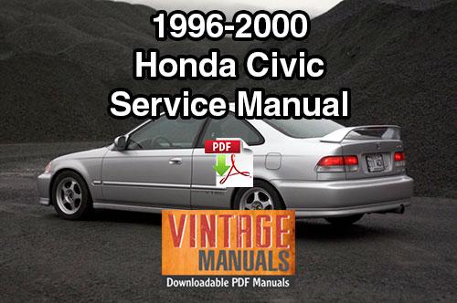Honda Accord Prelude Repair Manual 1996-2000