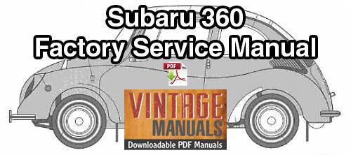 1958-1971 Subaru 360 Repair Service Manual
