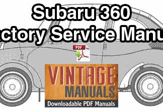 1958-1971 Subaru 360 Repair Service Manual