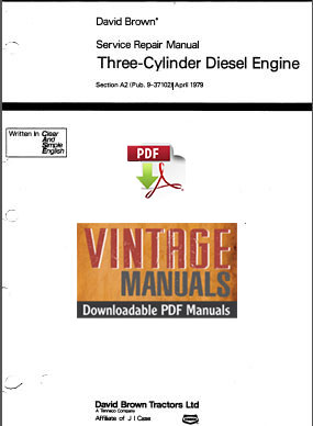 David Brown 3 Cylinder Diesel Engine Shop Manual
