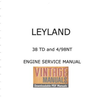 Leyland 38TD, 4/98NT Diesel Engine Shop Manual