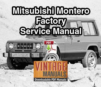 Mitsubishi Montero Factory Service Manual PDF Download