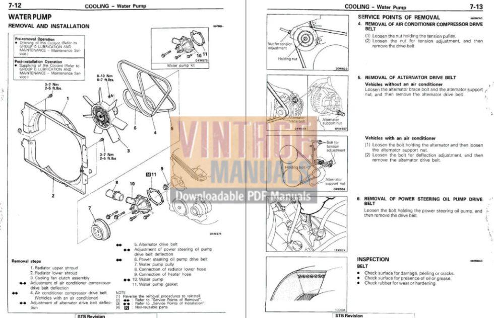 1987 Mitsubishi Montero Factory Service Manual