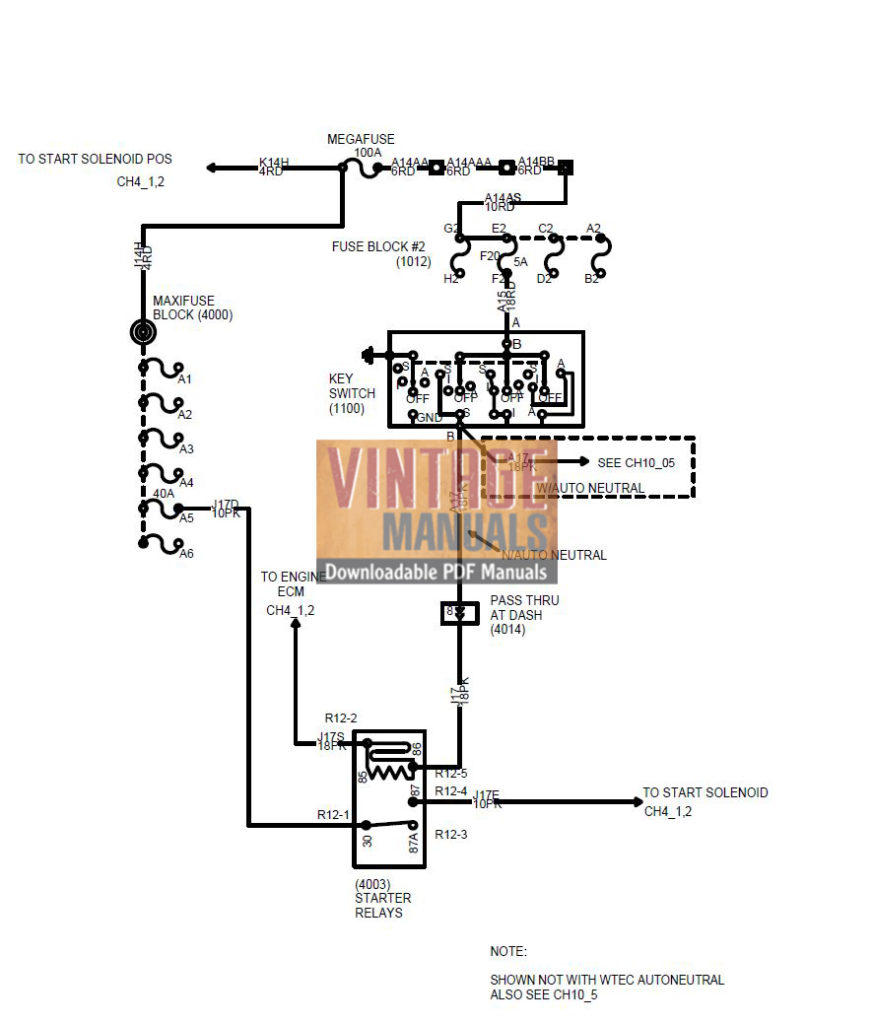 International 4200, 4300, 4400 Truck Wiring Diagram PDF