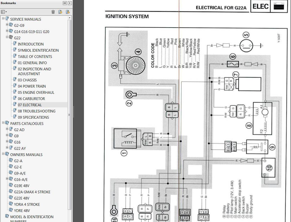 sample2 Yamaha G E Wiring Diagram Lights on